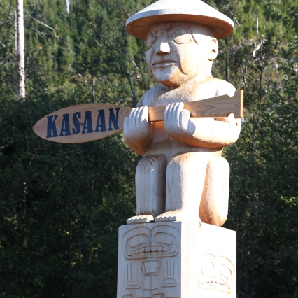 Kasaan Welcome Totem (Photo Credit Dennis Sylvia)