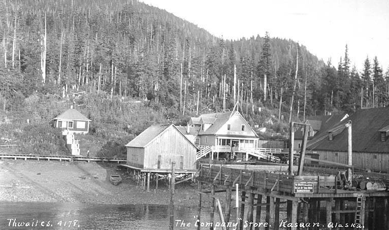 Kasaan 3 Company store and other buildings, Kasaan, Thwaites, ca 1912